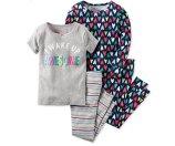 Carter's Toddler Girls' 4-Pc. I Wake Up Awesome Pajama Set