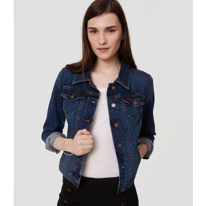 Denim Jacket in Dark Classic Indigo Wash | LOFT