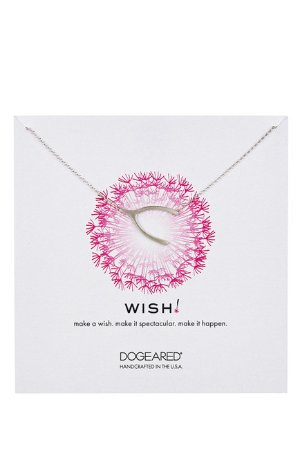 Dogeared Sterling Silver Wish Wishbone Necklace @ Nordstrom Rack
