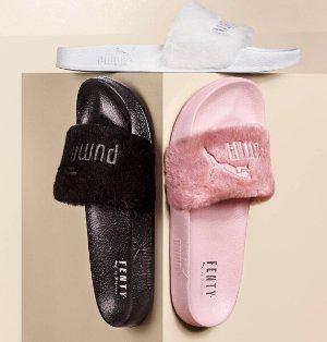 $80 FENTY PUMA by Rihanna Leadcat Fenty Faux-Fur Slide Sandal