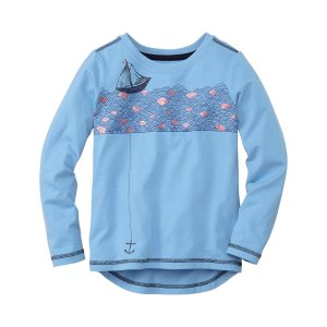 Hanna Andersson Skies Sailboat Hi-Low Art Tee | zulily