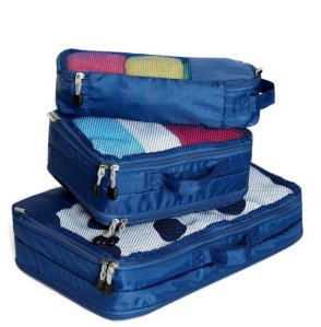 Yepal 3 Piece Lightweight Packing Cubes Set Ideal for Travel Organizers
