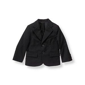 Baby Boy Black Wool Suit Blazer at JanieandJack