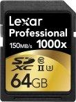 $58.5史低可直邮! Lexar Professional 1000x 64GB SDXC UHS-II U3 存储卡 - 2只装