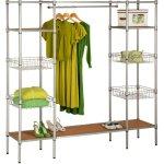 Honey-Can-Do Freestanding Steel Closet with Basket Shelves