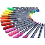 Premium Ultra-Fine Markers, Brite Writer Tri-Liner 0.4 mm, 24-Pack