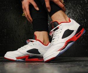 $79.97 Air Jordan 5 Retro Low GS Fire Red On Sale @ Nike.com