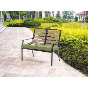 Mainstays Bryant Meadows 2-Seat Cushion Bench