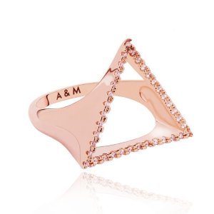 Rose Gold Triangle Signet ring
