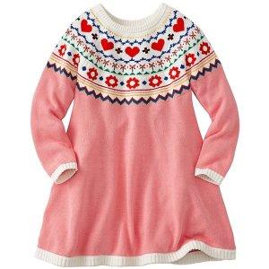 Girls Fairest Isle Sweater Dress | Girls Dresses