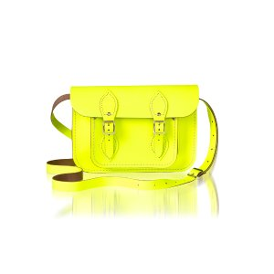 Fluoro Yellow 11 inch Satchel | Cambridge Satchel Co