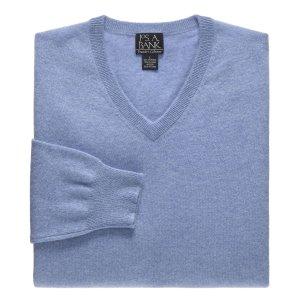 Traveler Collection Cashmere V-Neck Sweater - Cashmere Sweaters   Jos A Bank