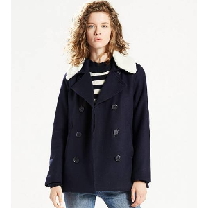 Removable Collar Sherpa Peacoat | Nightwatch Blue |Levi's® United States (US)