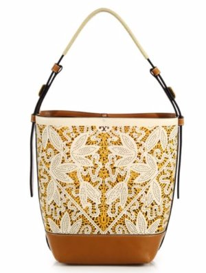 Tory Burch Floral Perforated Leather Bag