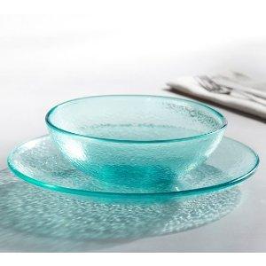 Fresca Acrylic Dinnerware, Set of 4 - Turquoise   Pottery Barn