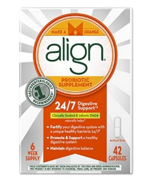 $22Align Probiotic Supplement, 24/7 Digestive Support with Bifantis, 42 Capsules