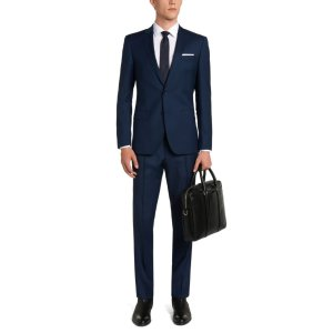 'Huge/Genius' | Slim Fit, Super 100 Virgin Wool Textured Suit