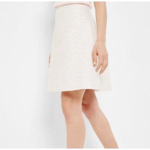 Bouclé A-line skirt - Cream   Suits   Ted Baker