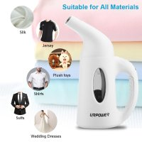 URPOWER Portable Handheld Fabric Steamer Fast Heat-up Powerful Travel Garment Clothes Steamer with High Capacity Perfect for Home and Travel