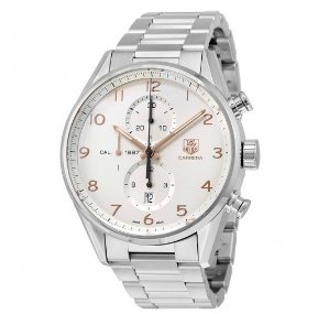 Tag Heuer Carrera Automatic Chronograph Silver Dial Stainless Steel Men's Watch