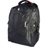Swiss Elite Black Polyester Mobile Laptop Backpack
