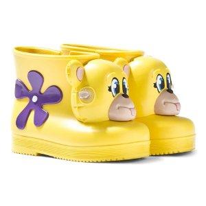 Mini Melissa Jeremy Scott Yellow Monkey Welly Boots | AlexandAlexa