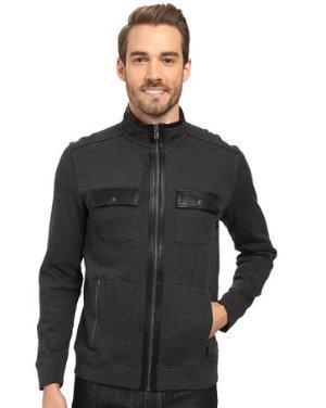 $25.68 Calvin Klein Men's Full Zip French Rib Long Sleeve Knit