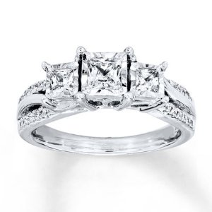 Kay - Radiant Reflections Ring 3/4 ct tw Diamonds 14K White Gold