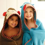 Skip Hop Zoo Baby Infant and Toddler Soft Cotton Hooded Bath Towel and Mitt Washcloth Set