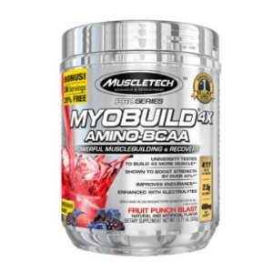 MuscleTech Pro Series Myobuild 4X Amino-BCAA, Powerful MuscleBuilding and Recovery Formula