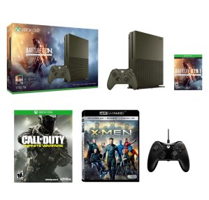 $349! Battlefield 1 Limited Edition! battle field 1 limited edition Xbox One S 1TB + Bonus Game + 4k Movie + Extra Controller