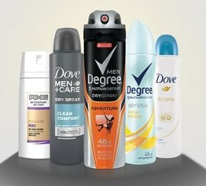 FREE! Dry Spray Deodorant Samples (Axe, Dove, or Degree)