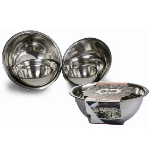 $16.45 ChefLand Standard Weight Mixing Bowls, Stainless Steel, Mirror Finish, Set Of 6