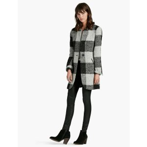 Wool Checkered Coat | Lucky Brand