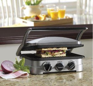 Cuisinart GR-4N Griddler Stainless Steel 4-in-1 Grill/Griddle and Panini Press