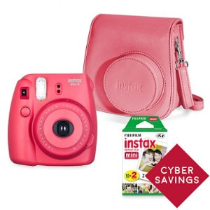 FUJIFILM Instax Mini 8 Camera Bundle with a Groovy Camera Case and Instax Mini Film Twin Pack - Various Colors - Sam's Club