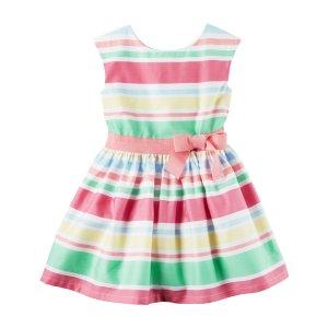 Toddler Girl Sateen Striped Dress | Carters.com