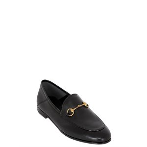 GUCCI - 10MM BRIXTON HORSE BIT LEATHER LOAFERS - LOAFERS - BLACK - LUISAVIAROMA
