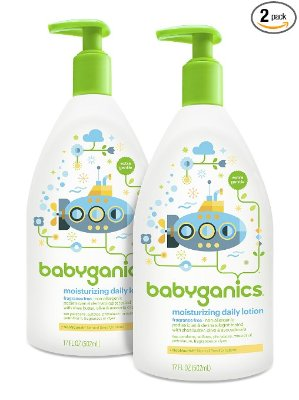 $10.14+Free ShippingBabyganics Daily Baby Lotion, Fragrance Free, 17 Ounce (Pack of 2)
