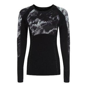 Merino Body Map Thermal Ski Top - black | long sleeve tops | Sweaty Betty