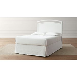 Arch White Full Headboard | Crate and Barrel