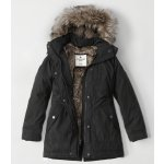 Faux Fur Twill Parka Jacket