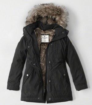 $50(原价$140)abercrombie kids仿毛内里 儿童保暖连帽长外套