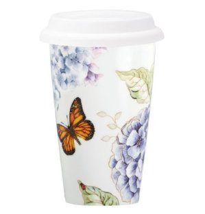 Lenox Butterfly Meadow Thermal Travel Mug -10oz