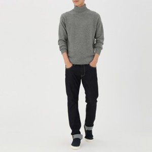 Men Less Itchiness Middle Gauge Washable Turtle Neck