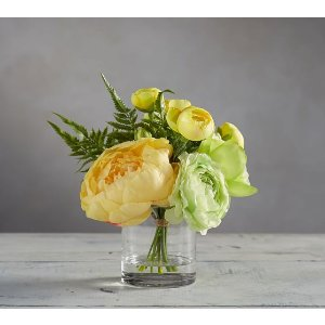 Faux Ranunculus Composed Arrangement | Pottery Barn