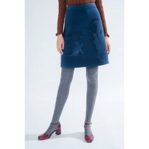 Futurist Skirt (Teal) - Miss Patina - Vintage Inspired Fashion
