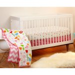 Pinwheel by Little Bedding by Nojo Reversible Sweet Tweet/Pink Chevron Print 3-Piece Crib Bedding Set