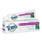 Tom's of Maine Natural Fluoride Free Antiplaque and Whitening Toothpaste, Peppermint, 5.5 Ounce