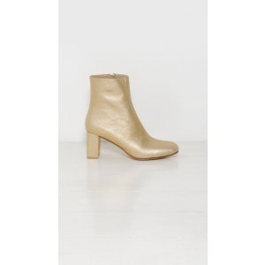 Maryam Nassir Zadeh Agnes Boot in Gold | The Dreslyn